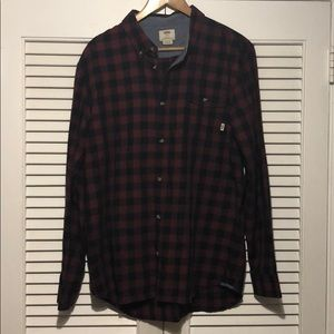 Vans Off The Wall Plaid button Down Shirt.